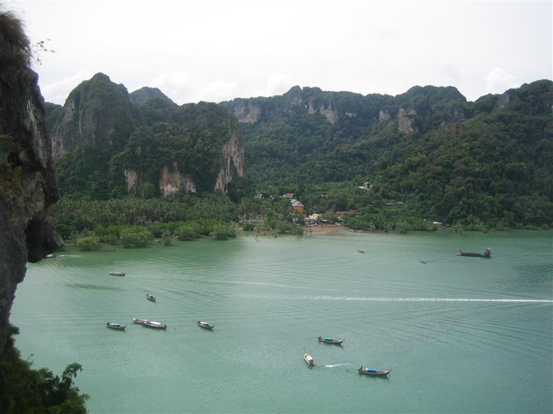 View from Tyrolean Wall in Railay