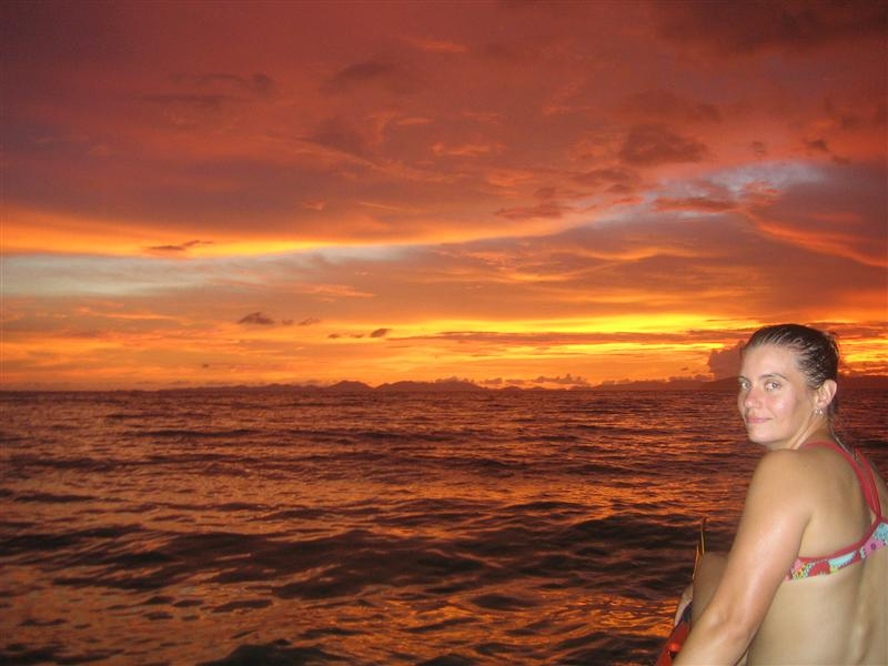 Amazing sunset in Railay
