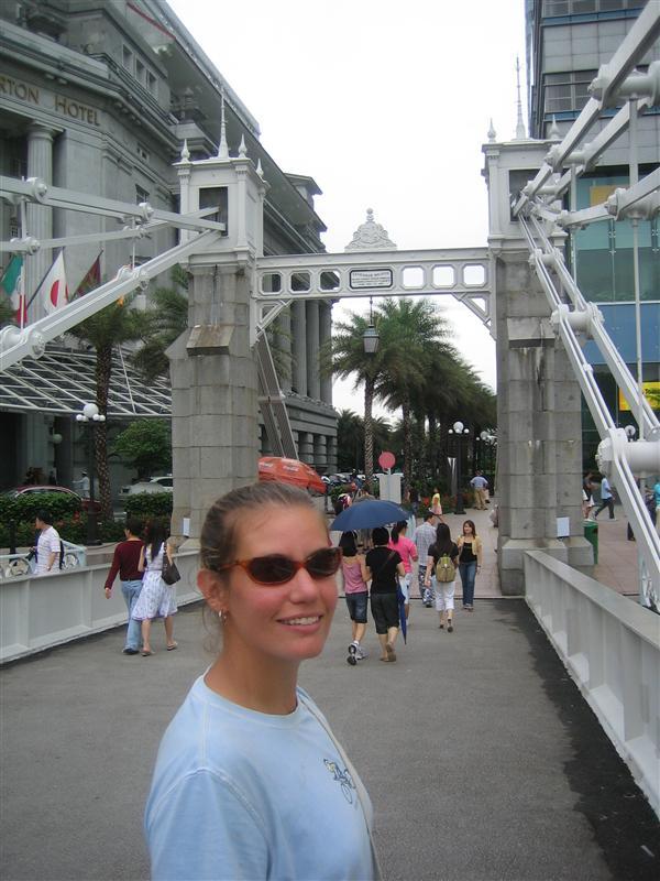 Joc on the Old Footbridge