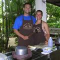 Joc and Carl prior to starting Thai cooking lessons
